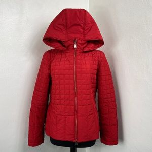 St. John Designer Winter Jacket Red Quilted Jacket